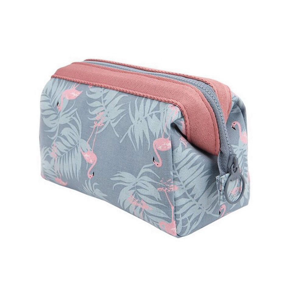 Novedad bolsa de cosméticos de flamencos para mujer Necessaire bolsa de maquillaje de viaje impermeable bolsa de maquillaje portátil Kit de artículos de tocador