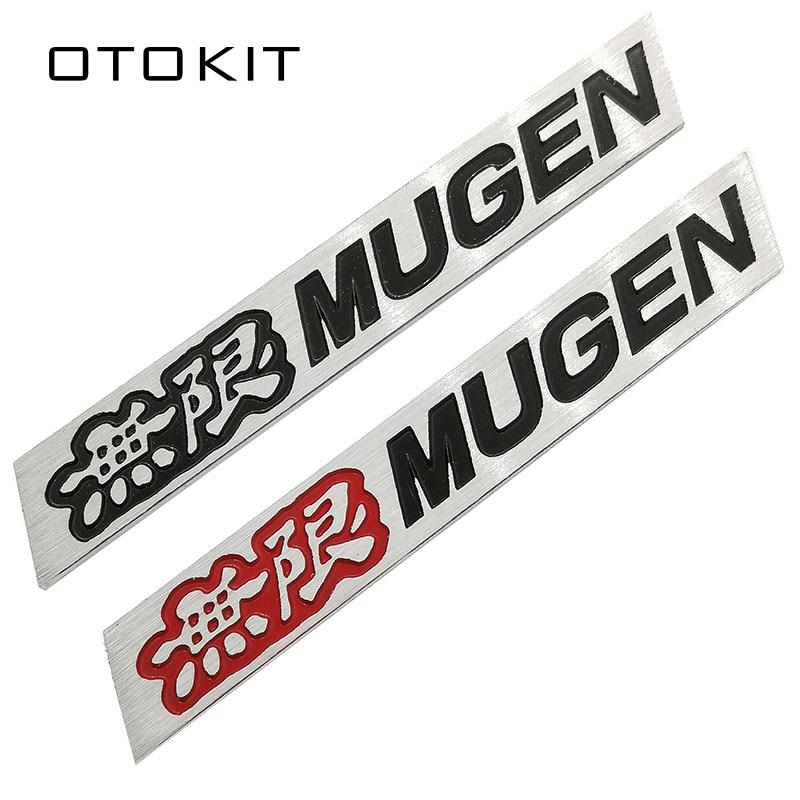 Silver Metal Chrome MUGEN Rear Trunk Emblem Red Car Body Sport Badge For CRV HRV