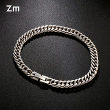 8mm High Grade Stainless Steel Charm Silver Gold Bracelet Men Vintage Bracelets Gold Bangles Male Men Jewelry Wristbands Band(China)