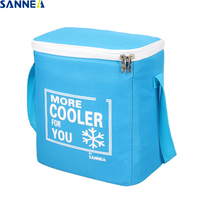 SANNE 8 5L Picnic Lunch Bag Folding Insulation Lunch Bag For Kids PEVA PE Lunch Thermal