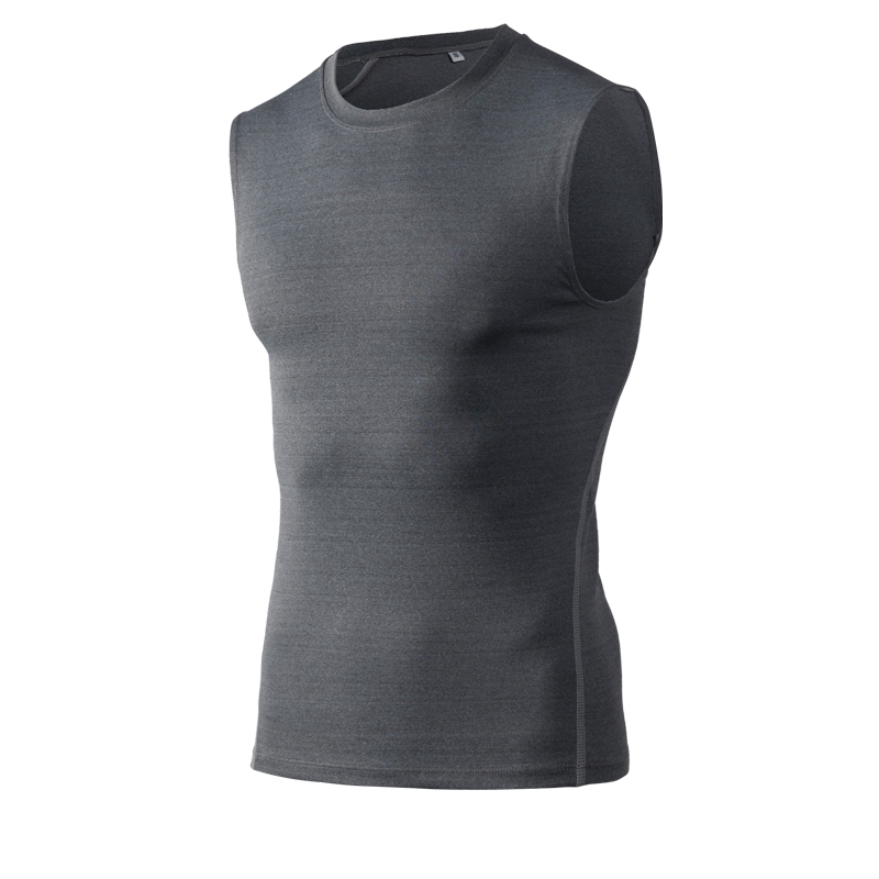 New Quickly Dry Elastic Tights Tank Top Gym Fitness Bodybuilding Sleeveless T Shirts Sport Running Vest SHM Yoga Shirt Men in Yoga Shirts from Sports Entertainment