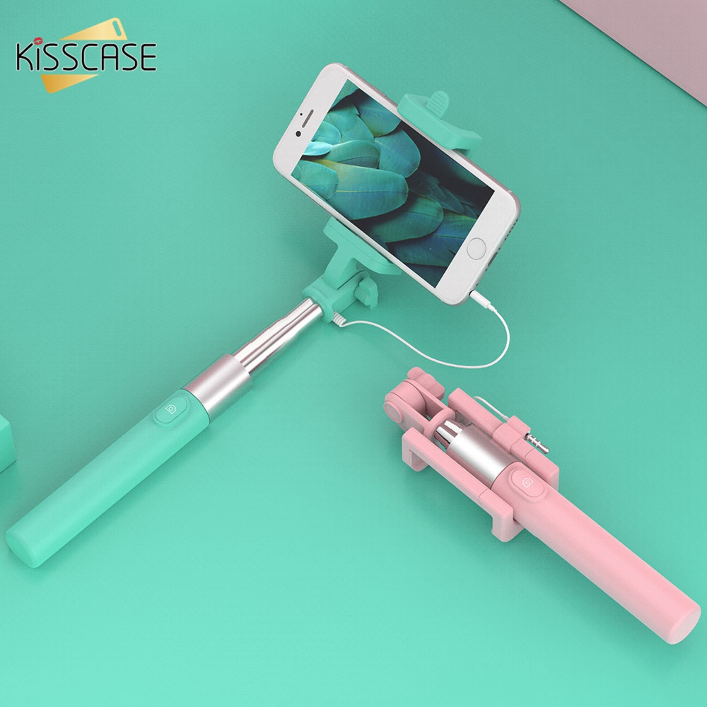 FLOVEME Colorful Universal Scrub Phone Selfie Stick For iPhone Xiaomi Huawei Portable Mini Self Timer For Samsung Galaxy S8 S7