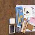37 PCS gravierte gummi blatt material paket hand geschnitzten gummi ziegel DIY set freies verschiffen hause|Stempel|Heim und Garten -