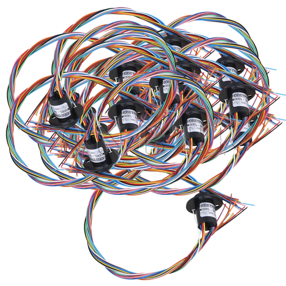 CNBTR 12.5mm Black Metal 250RPM 12 Wires Circuits Capsule Slip Ring 2A 240V AC/DC for Test Equipment Pack of 20 CNBTR 12.5mm Black Metal 250RPM 12 Wires Circuits Capsule Slip Ring 2A 240V AC/DC for Test Equipment Pack of 20