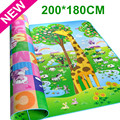 Authorized Authentic Maboshi Doulble-Site Baby Play Mat 2*1.8 M Giraffe And Bear Kids Picnic Carpet Baby Crawling Mat CM-188