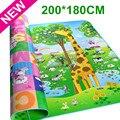 Autorizado autêntico maboshi doulble-site jogar baby mat 2*1.8 m girafa e urso crianças piquenique tapete bebê rastejando mat cm-188