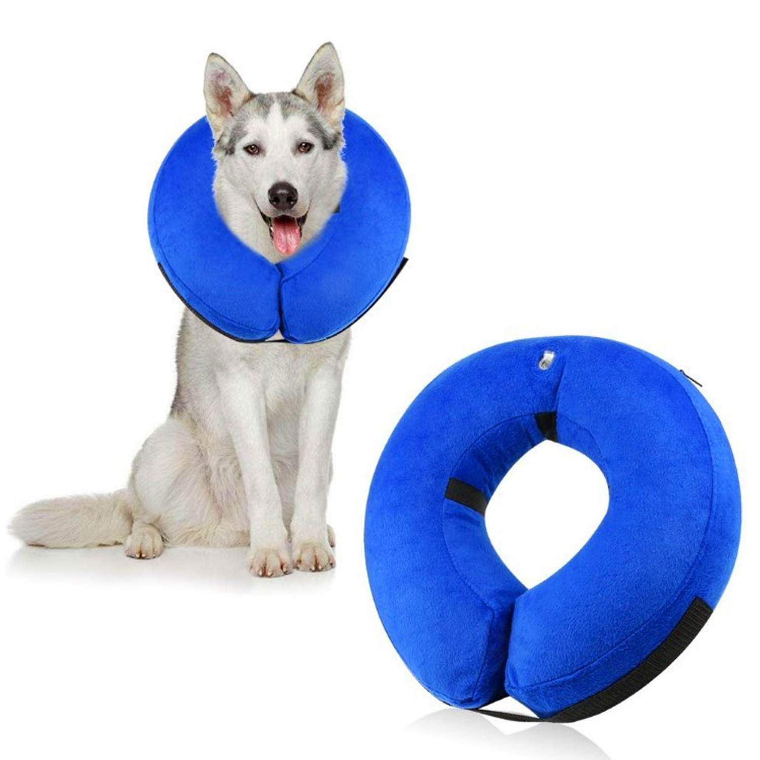 Behogar S M L Adjustable Inflatable Dog Cat Elizabethan Collars Wound Healing Remedy Recovery Protective E-Collar Pet Supplies Собака