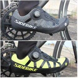 SIDEBIKE 2019 nowy terenowy nieblokujący obuwie rowerowe człowiek oddychające górskie buty rowerowe wypoczynek droga rowerowa płaskie buty 36 46 w Buty rowerowe od Sport i rozrywka na