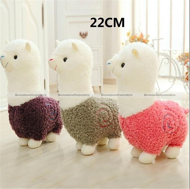 "1 Pc 22CM 8.5"" Lovely Small Llama Alpaca Plush Stuffed Doll Toy Birthday Gift KTK"