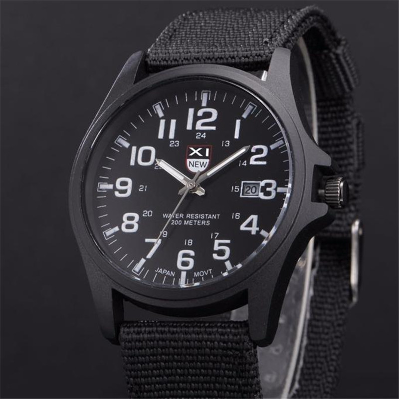 Men Men's Watch 2018 Quartz-Watch Clock Outdoor Mens Date Stainless Steel Reloj Military Sports Analog Quartz Army Wrist Watch