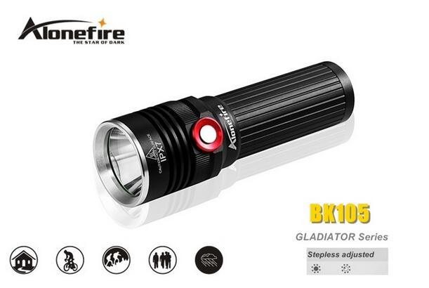 ФОТО AloneFire BK105 1198 lumens CREE XM-L2 LED 3 Mode Stepless Adjusted Led Flashlight Torch lamp For 18650 Battery