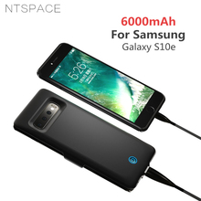 NTSPACE Ultra Slim Portable Battery Charger Cover for Samsung Galaxy S10e Case 6000mAh Extenal Power Bank Charging Cases