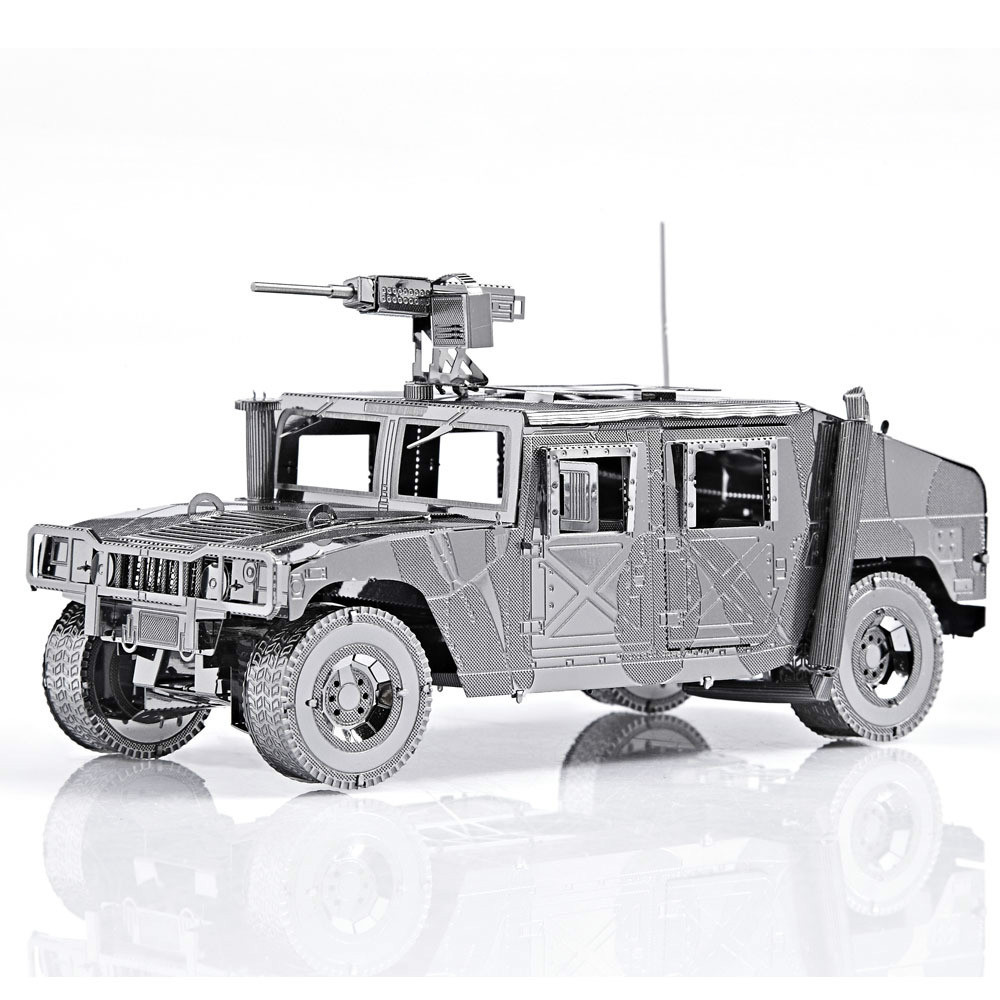 Diy Metal Assembly Model Building Kits Miniature 3D Puzzle Educational toys Greative Birthday Gift Toy-Hummer jeep vehicles - BOA 's store