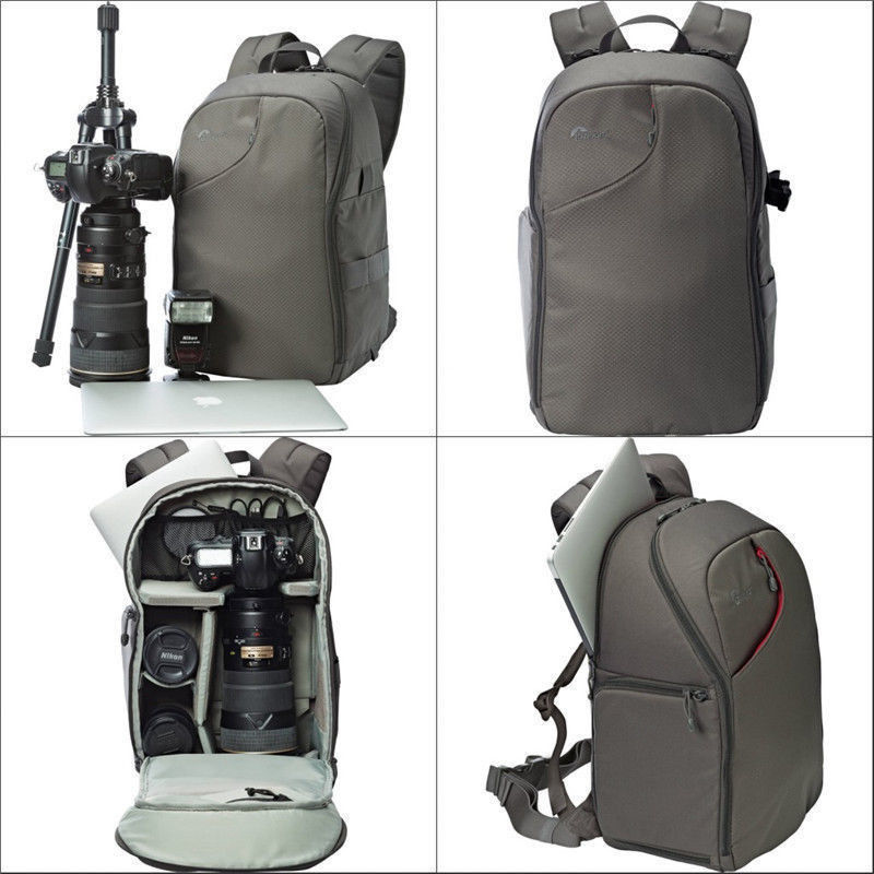 Cooralledtooere Folding Camera Computer Backpack Color : Gray 15.6-inch Laptop Bag Outdoor Anti-Theft Waterproof Digital Camera Bag