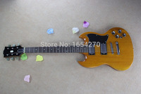 2014 Hot Selling SG400 Yellow 6 Strings natural Wood Electric Guitar Free Shipping Wholesale 150604