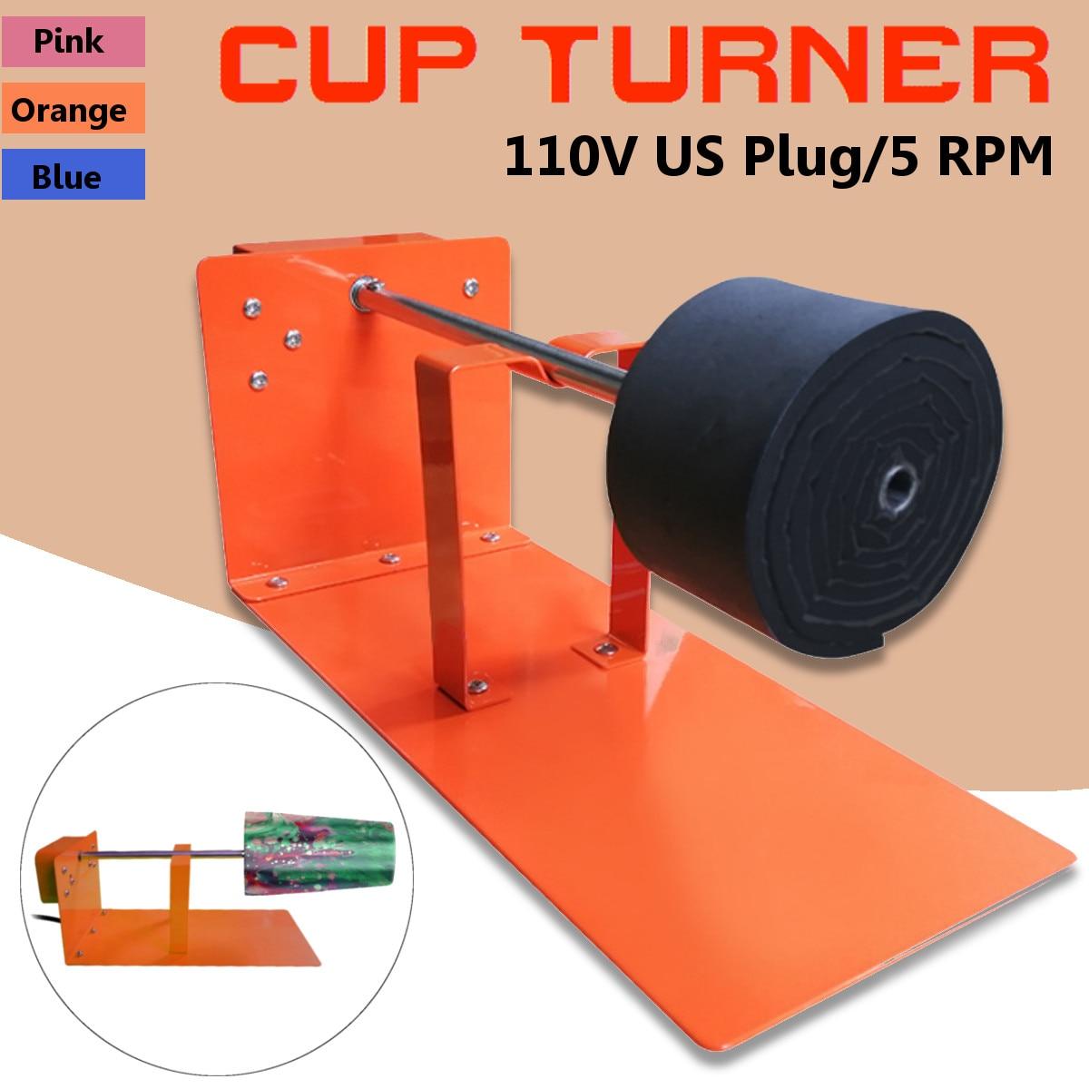 5 tr/min tasse réglable tourneur de tasse Spinner gobelet Cuptisserie mousse faisant tasse bricolage 110 v poterie et céramique outils pour peint
