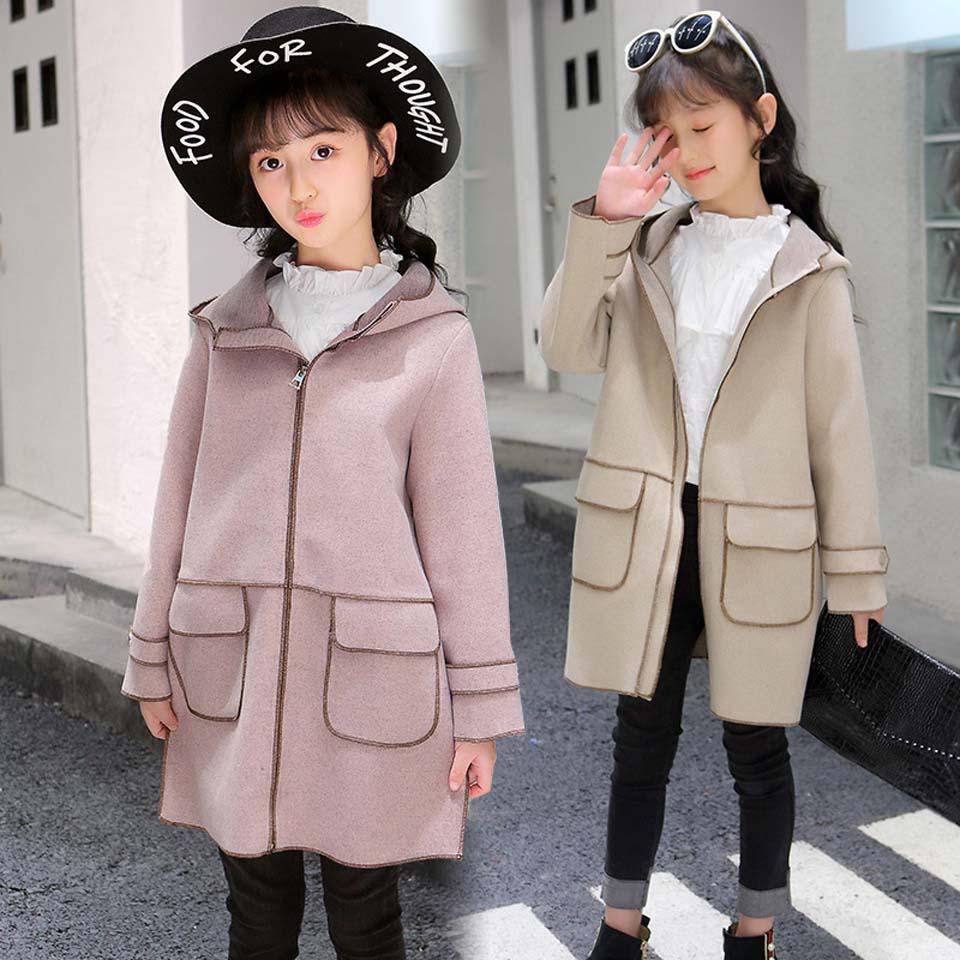 2018 New Fashion Autumn Winter Baby Boys Girls Warm Outerwear Children Suede Fleece Jacket Kids Long Coat Girls Winter Clothes