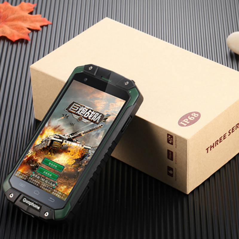 GPS Étanche Android Smartphone Guophone V9 2 GB RAM 16 GB ROM IP68 Mobile Téléphones Dicovery Téléphone Portable