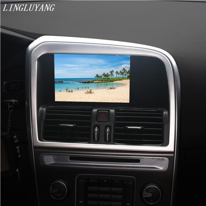 Car Styling special car console navigation decorative frame cover trim stainless steel strip 3D sticker for Volvo XC60 2009-2015 vinyl tag game console protection scratches cover sticker for ps4 wireless controller decoration cool styling skin