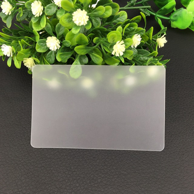 Blank Transparent PVC Card 85.5mm X54mm X0.38mm Size Suit For Kinds Of Business Card Printing