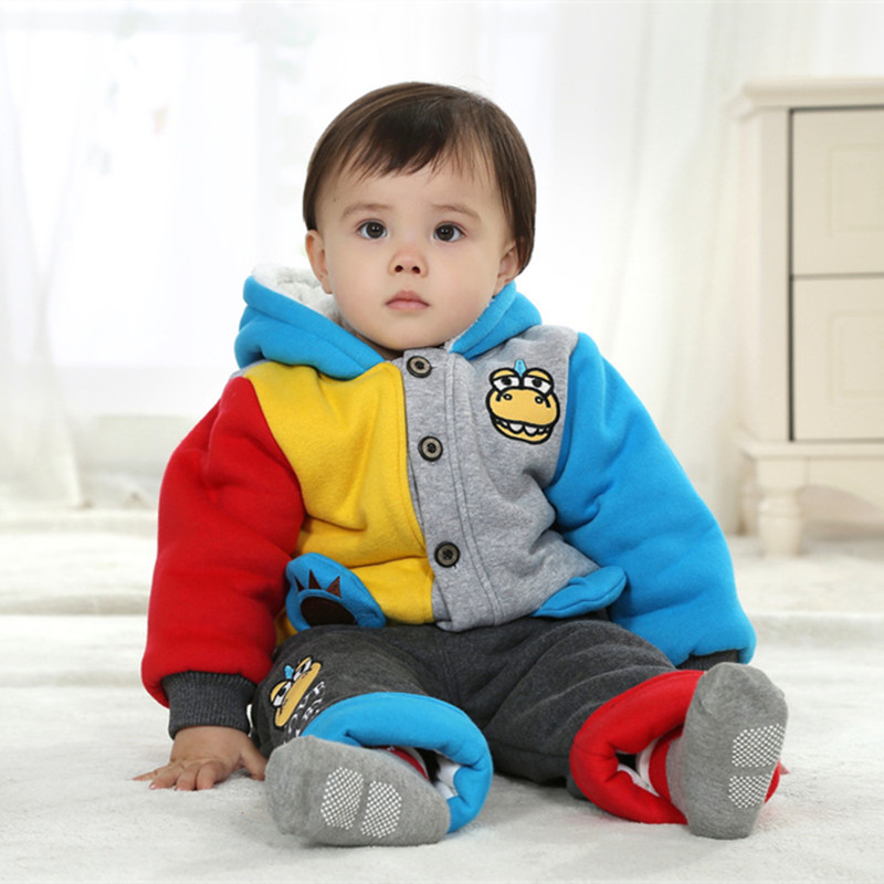 ФОТО  Anlencool Roupas Infantil Meninas free Shipping Children Winter Coat Cute Dinosaur Suit Baby Clothes Newborn Boys Set clothing