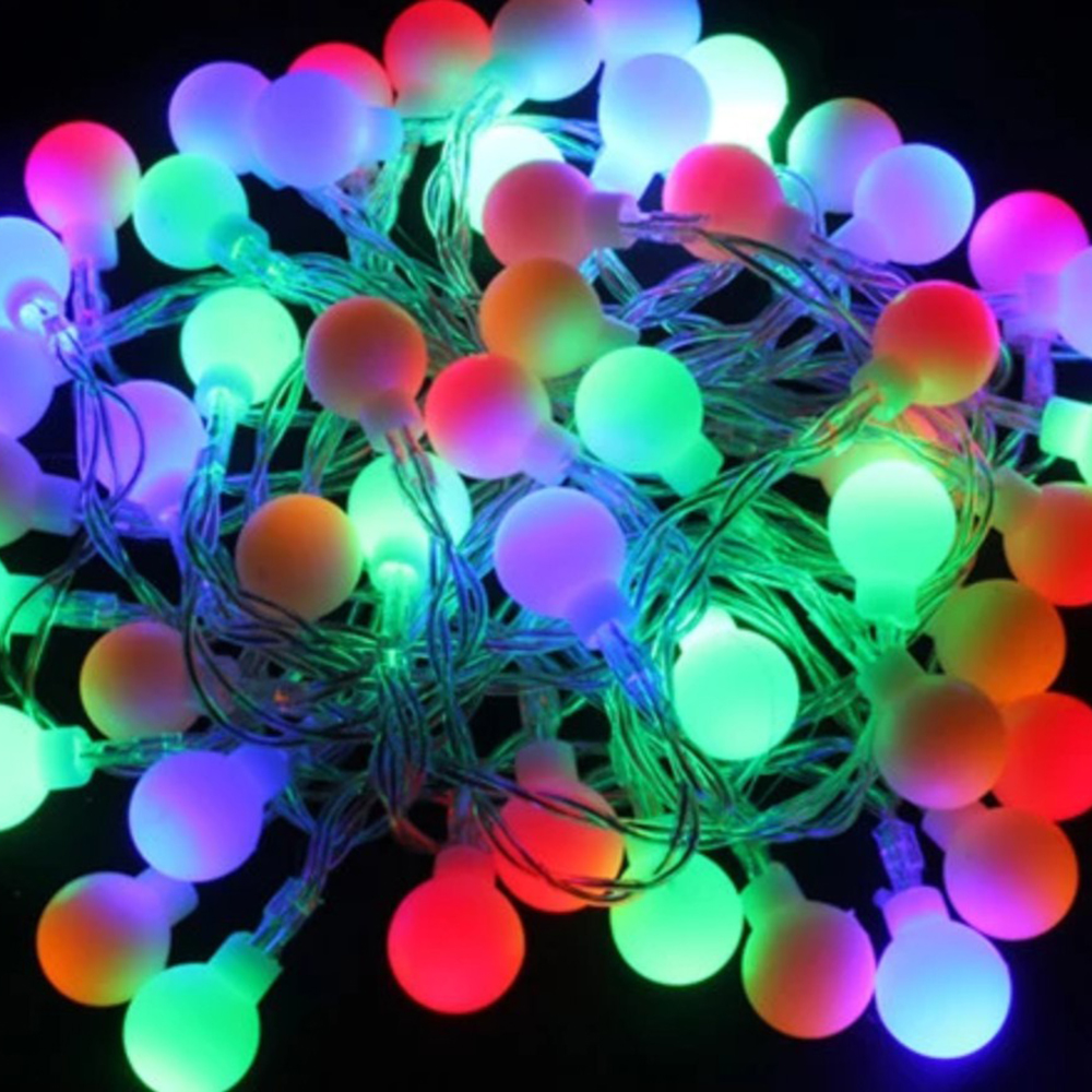 10m Novelty Outdoor lighting 2cm big size LED Ball string Christmas Lights with end plug wedding garden pendant garland 220V-in LED String from Lights ... & 10m Novelty Outdoor lighting 2cm big size LED Ball string Christmas ...