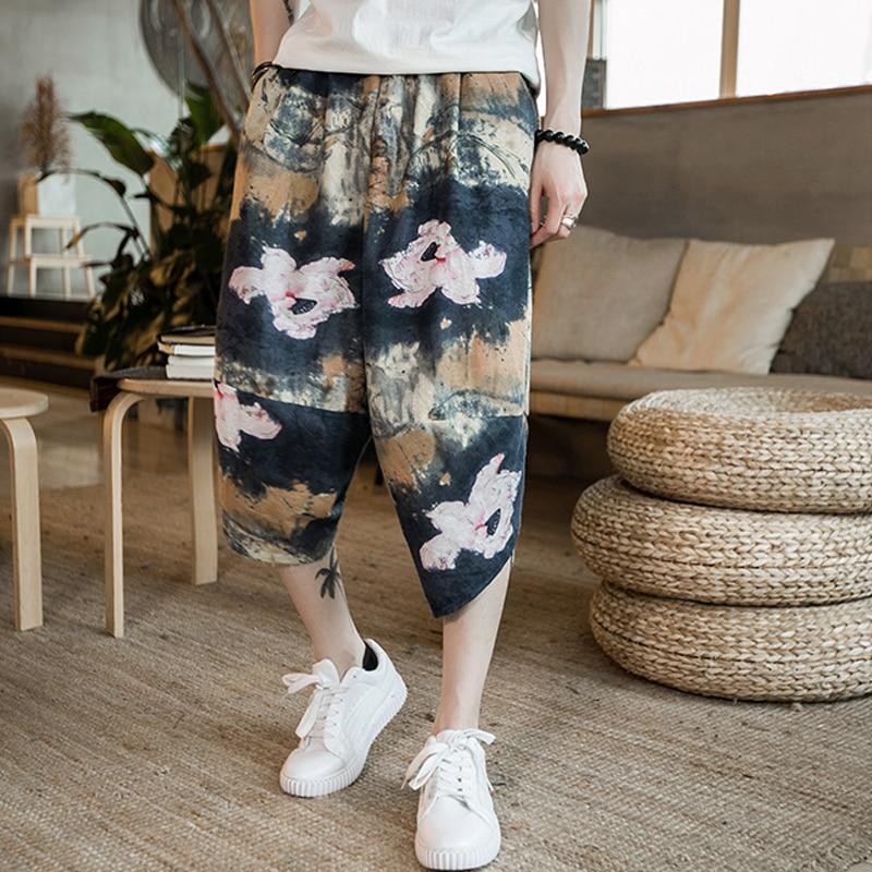 Повседневные мужские брюки с забавным принтом, хлопковые мужские брюки на осень и весну серого цвета, спортивные брюки больших размеров, черные брюки в китайском стиле - Цвет: color2