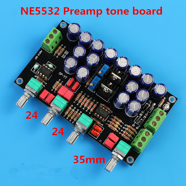 NE5532 amplificateur de préampli HIFI carte de tonalité de pré-niveau avec contrôle du volume des graves aigus médiums