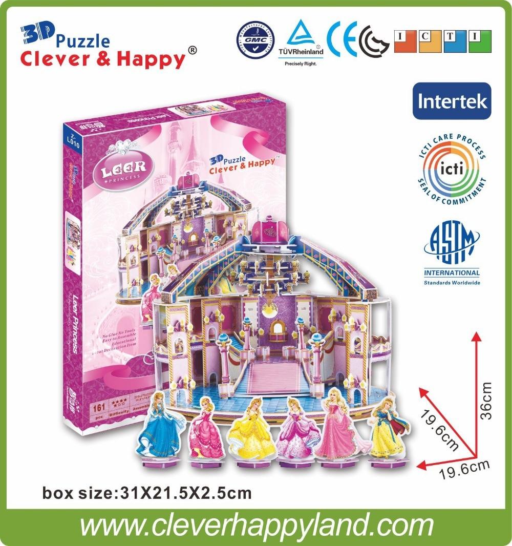 új, okos és boldog föld 3d puzzle puzzle A Leer palotája több mint 10 éves diy modelljáték gyerekeknek