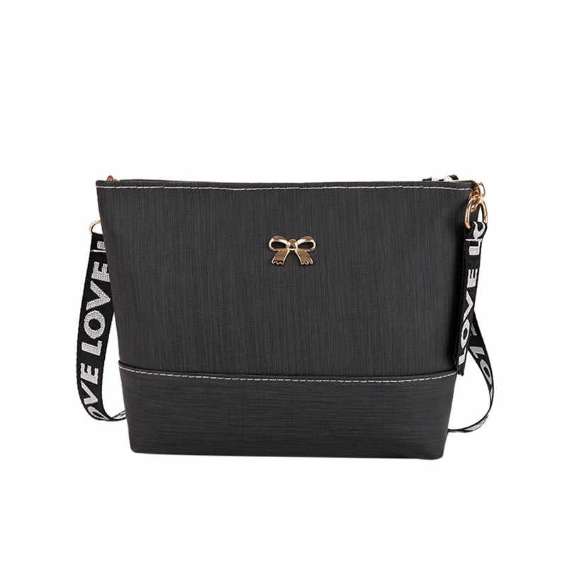 11454fff9f48 Detail Feedback Questions about Simple Flap Shoulder PU Leather Bags Women  Girls Bowknot Patchwork Mini Messenger Handbags With Letter Belt Bag  40A C  on ...