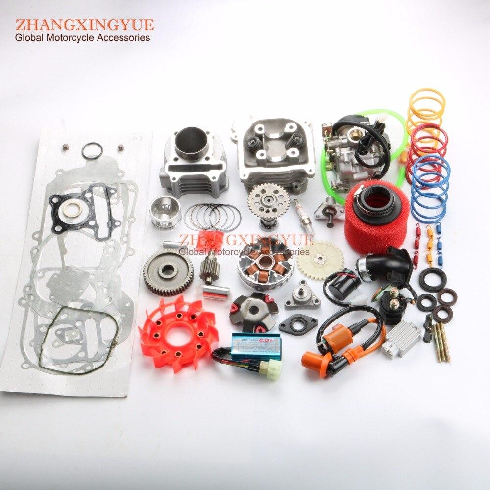 80cc большого диаметра комплект производительность 9 отверстия Cam производительность AC cdi и катушки и 20 мм Карбюраторы для мотоциклов и 38 мм во
