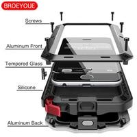 BROEYOUE Case Para Samsung Galaxy Note 8 5 4 3 S4 S5 S6 S7 S8 nota Borde Más Cubierta de Alta Resistencia Para el iphone 5 5S 6 6 S 7 8 Plus X