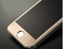5pcs Full Cover Alloy Titanium Tempered Glass Film For Apple iPhone 5 5S 6 6s 6plus
