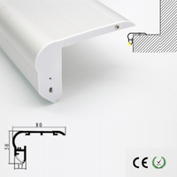 High quality aluminum led channels recessed stair lights in LED lamp stair lighting fixtures indoor used customized length ok
