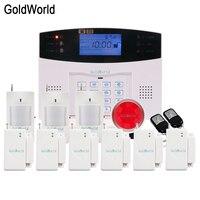 GSM SMS Burglar Alarm Home Security System With PIR Motion Sensor Door Magnet Sensor APP Control