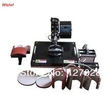 Wtsfwf 30*38 CM 8 in 1 Kombinierter Hitzepresse Drucker Maschine 2D Thermotransferdrucker für Kappe Becher platte T-shirts Druck