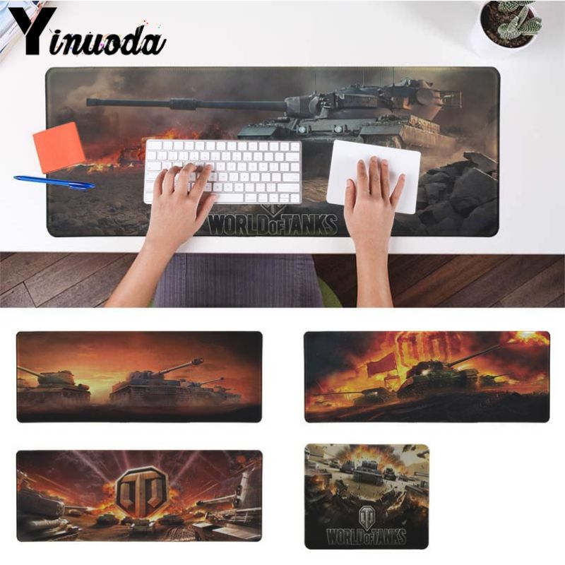Yinuoda Cool Fashion World Of Tanks Office Mice Gamer Soft Mouse Pad Size For 180*220 200*250 250*290 300*900 And 400*900*2mm