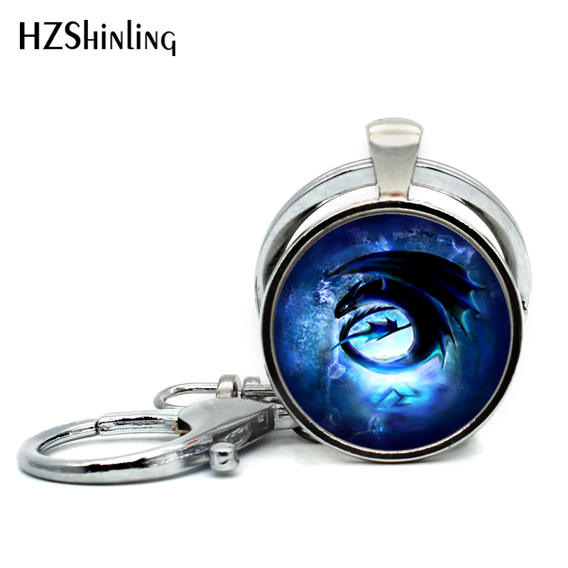 Detail Feedback Questions about New Arrival Awesome Toothless How to dragon  Keychains Steampunk Silver Round Pendant Jewelry For Women Men Car  Accessories ... eae2f743bbb7