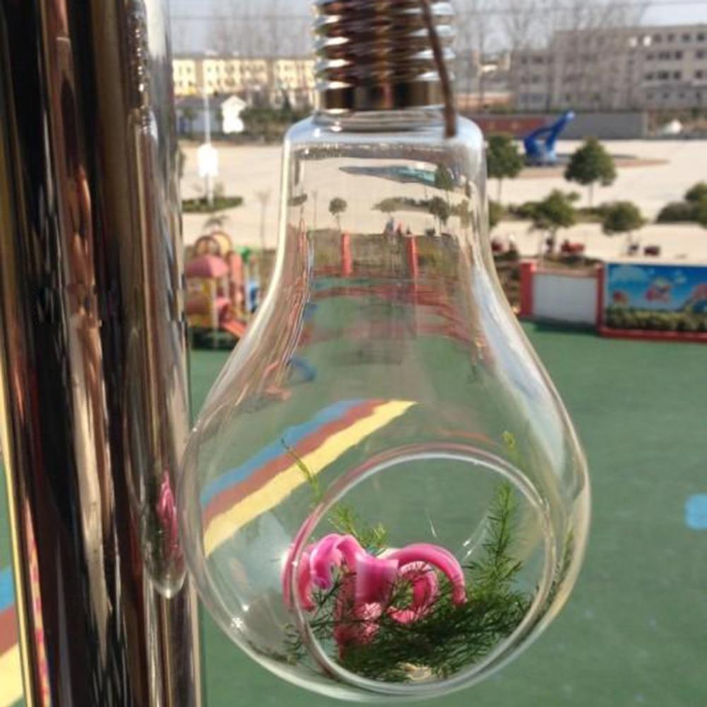 2017 new glass bulb lamp shape flower water plant hanging vase aeproducttsubject reviewsmspy
