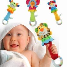 New Design Plush Baby Toy Animal Hand Bells Baby
