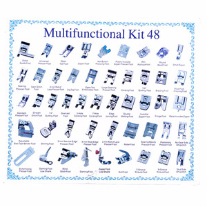Image 4 - 32/42/48/52 Pcs Sewing knitting crochet Domestic Machine Blind Stitch Darning Presser Foot Feet Kit Set For Brother Singer Janom