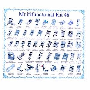 Image 4 - 32/42/48/52 sztuk szycia knitting crochet domowe maszyny ścieg kryty cerowanie stopka dociskowa zestaw stóp zestaw dla brata Singer Janom