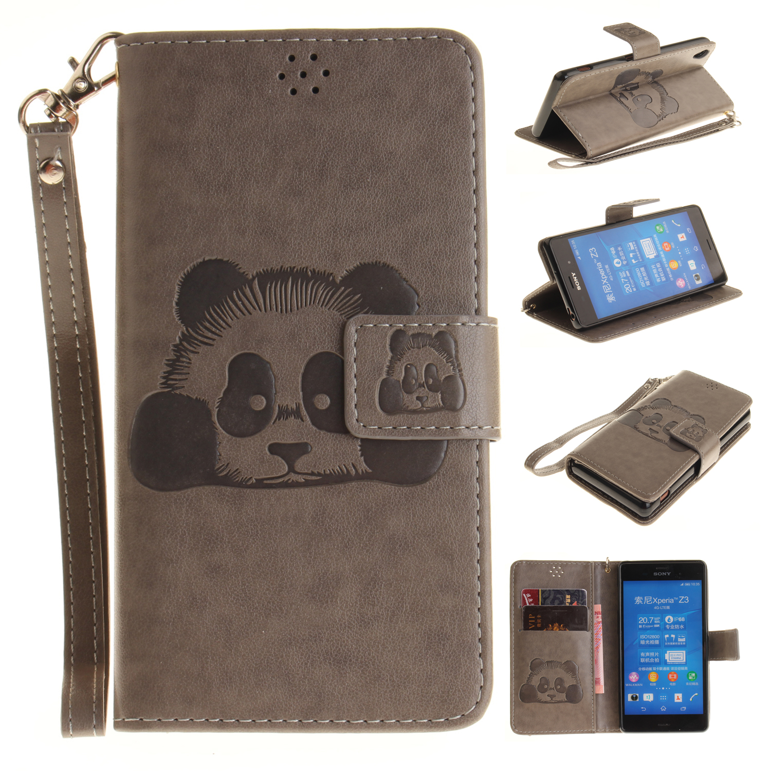 For Sony Xperia Z3 case PU Leather Wallet Card <font><b>Holder</b></font> <font><b>Magnetic</b></font> Auto Flip Stand Cover cases For Sony Z3 <font><b>mobile</b></font> <font><b>phone</b></font> bag