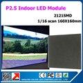 1/16 сканирования P2.5 64x64 pixel крытый светодиодные панели 160x160 мм 2121smd 3in1 rgb полноцветный светодиодный модуль дисплея