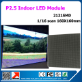 1/16 scan P2.5 64x64 pixel indoor led panel 160x160mm 2121smd rgb 3in1 full color led display module