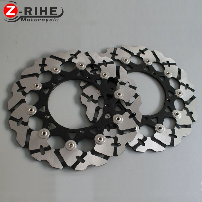 2PCS Front Floating Brake Disc Rotor motorcycle parts Aluminum  Brake Rotors for YAMAHA YZF600 R6 2007-2012 YZF1000 R1 2007-2013 brand front brake disc rotors for yamaha 2007 2011 yzf r1