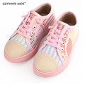 CCTWINS KIDS 2017 spring baby boy breathable black trainer for children fashion canvas shoe girl brand casual sneaker flat pink