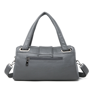 Image 5 - 패션 베개 여성 핸드백 미국의 인기있는 보라색 가방 새로운 간단한 레저 레이디 숄더 가방 캐주얼 성격 메신저 가방