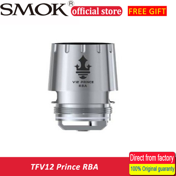 In stock!!! 100% Original SMOK TFV12 Prince RBA  with Resistance 0.25ohm For TFV12 Prince Tank Atomizer RBA coil head glass tube Electronic Cigarette Atomizer Cores