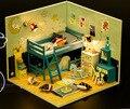 Детство DIY Деревянная модель дом С Мебелью Куклы с пыле для Дом 3D Головоломки Кукольный Домик Игрушки Подарки